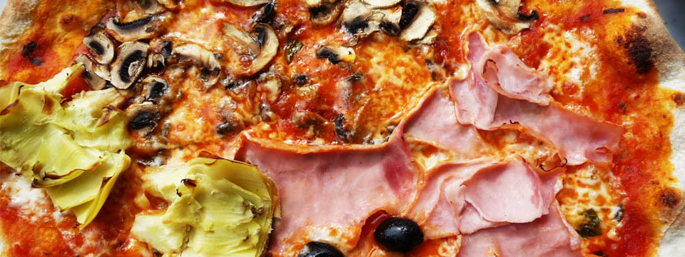 Pizza Quattro Stagioni Houtoven Recept